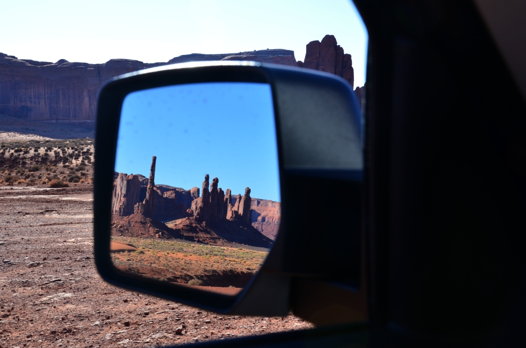 Totem Pole in the mirror