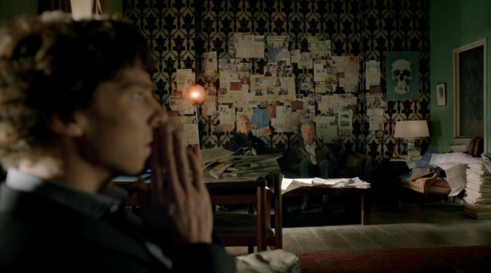 Sherlock z rodzicami