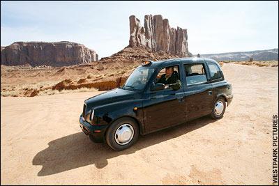 Stephen Fry w Dolinie Pomników - i w taksówce